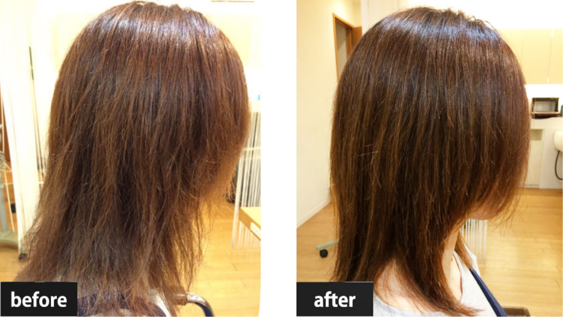 髪質改善ヘアエステ施術例2