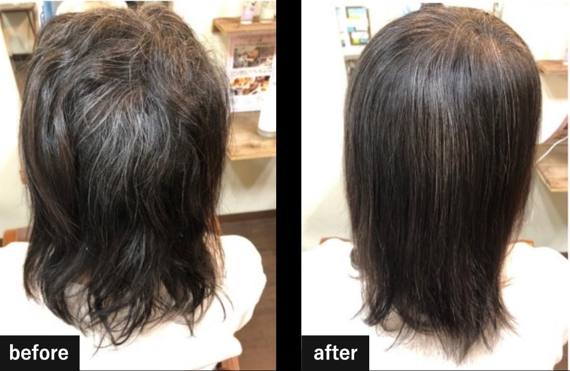 髪質改善ヘアエステ施術例6